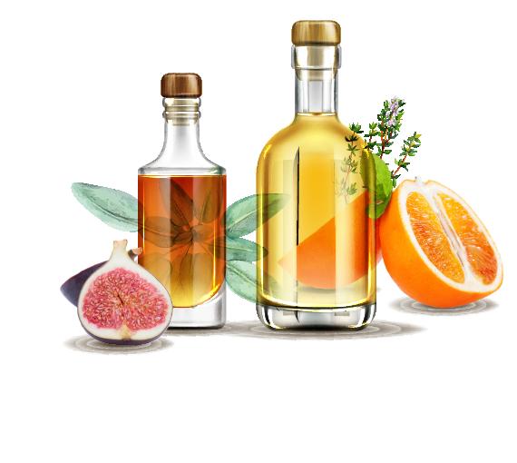 Organic Fruits and Mountain Herbs Liqueurs